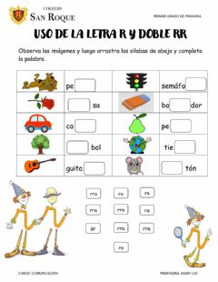 Interactive worksheet USO DE LA LETRA R