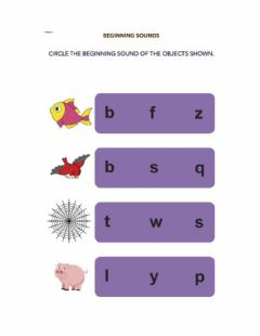 Interactive worksheet Beginning Sounds