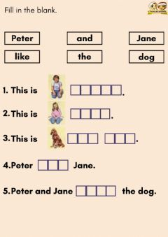 Interactive worksheet Peter and Jane