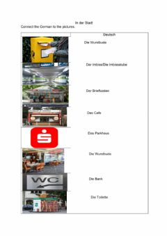 Interactive worksheet In der Stadt