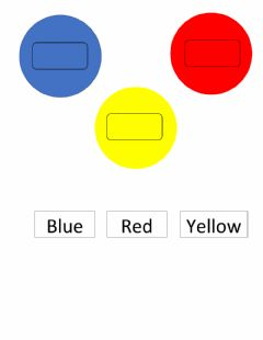 Interactive worksheet Red, blue, yellow