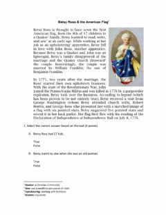Interactive worksheet Betsy Ross