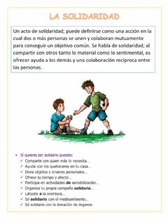 Interactive worksheet La Solidaridad
