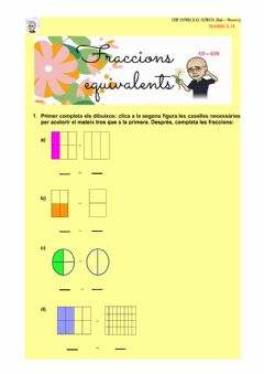 Interactive worksheet Les fraccions equivalents