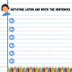 Interactive worksheet Dictation: listen and write