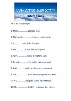Interactive worksheet Future Simple