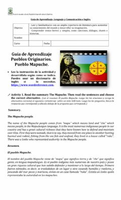 Interactive worksheet Mapuche People