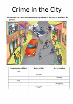Interactive worksheet Crime in the city