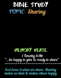 Ficha interactiva Bible Study: Sharing