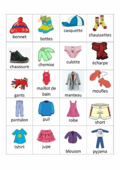 Ficha interactiva Vocabulaire