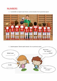 Interactive worksheet Numbers and introductions