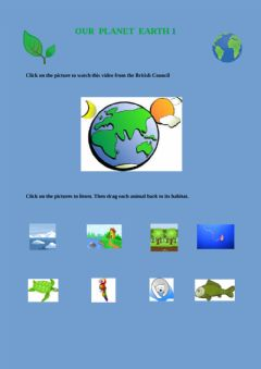 Interactive worksheet English and Science Our planet Earth