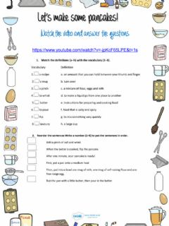 Interactive worksheet Let's make some pancakes!