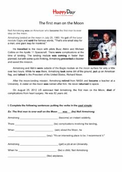 Interactive worksheet Neil Armstrong - past tense