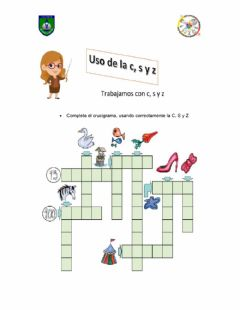 Interactive worksheet Uso s, c y z