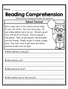 Ficha interactiva Reading Comprehension