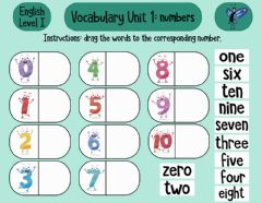 Interactive worksheet Numbers