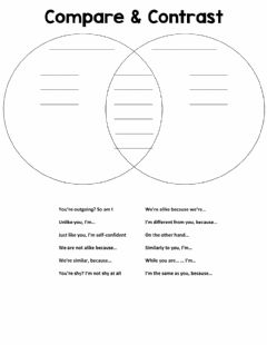 Interactive worksheet Compare and Contrast Signal Phrases