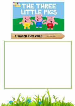 Ficha interactiva The Three Little Pigs