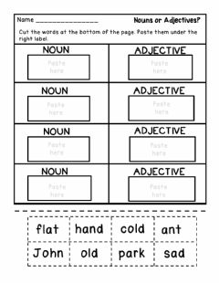 Ficha interactiva Adjectives Worksheet
