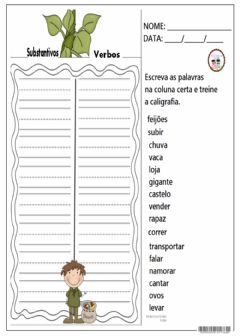 Interactive worksheet Caligrafia