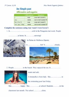 Interactive worksheet Simple Past: Was & Were