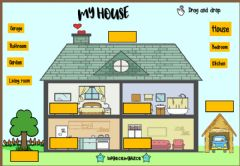 Interactive worksheet My House (Drag drop)