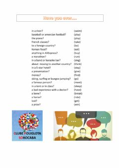 Interactive worksheet Present perfect with ever