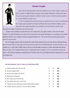 Interactive worksheet Charlie Chaplin