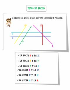Interactive worksheet Tipos de rectas