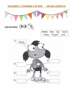 Ficha interactiva CHILDREN 1 children 1 ex kids - ONLINE LESSON 22