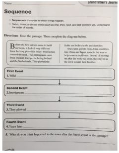 Interactive worksheet Sequence 4th grade