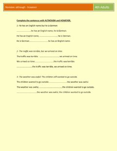 Interactive worksheet However
