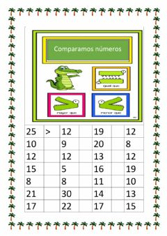 Interactive worksheet Comparamos números