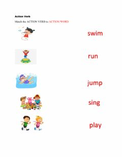 Interactive worksheet Action Verb