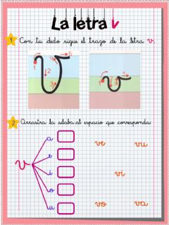Interactive worksheet La letra V, ficha 1