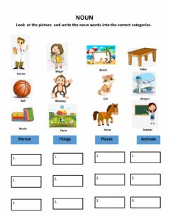 Interactive worksheet Noun