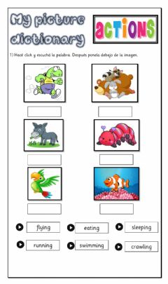 Interactive worksheet Picture Dictionary
