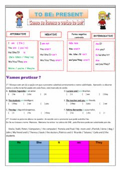 Interactive worksheet Verb to be present