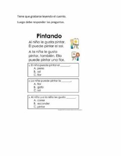 Interactive worksheet Compresion de lectura