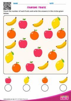 Interactive worksheet Counting fruits