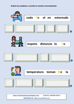 Interactive worksheet Ordena palabras