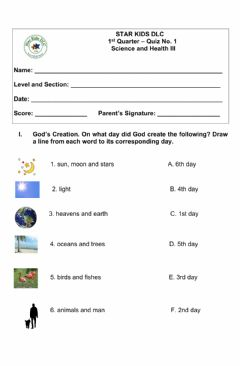 Interactive worksheet 1st. Qtr. Quiz No. 1 Grade 3 - Science