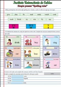 Interactive worksheet Present simple Third person