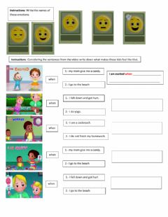 Interactive worksheet Emotions and effects