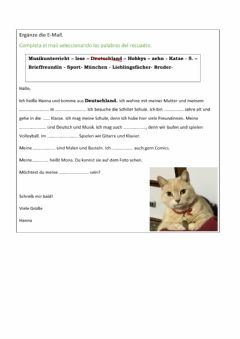 Interactive worksheet Brieffreundin