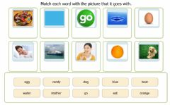 Ficha interactiva Reading and matching pictures