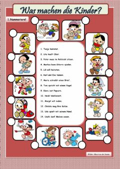Interactive worksheet Was machen die Kinder