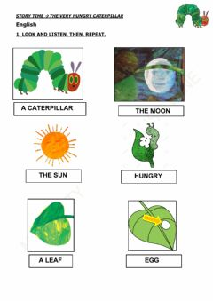 Interactive worksheet The hungry caterpillar