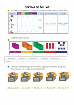 Interactive worksheet Decena de millar
